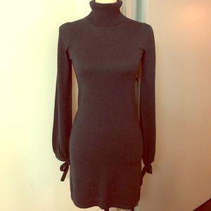 Topshop wool-blend navy dress